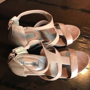 Inc wedge nude shoes size 10